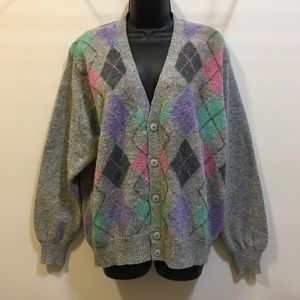 United Colors of Benetton wool argyle sweater 50